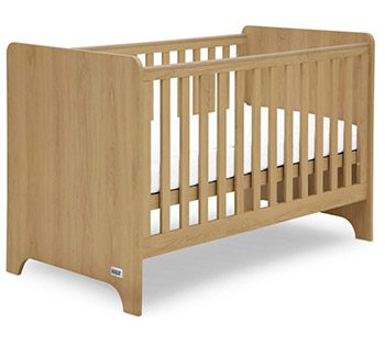 Mamas and Papas Rocco 3 warm oak cot bed