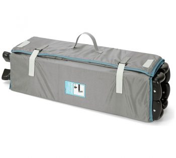 mamas and papas classic travel cot folded up in grey