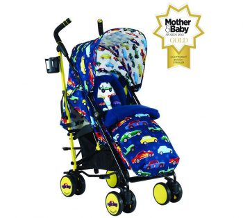 Cosatto Supa Stroller push chairs with cars design in blue