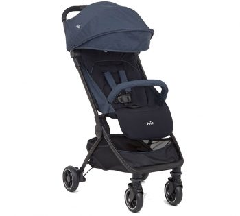 The Joie Pact travel system pram and seat in blue colour