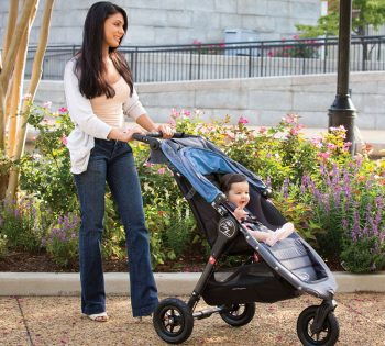 Women pushing baby in Baby Jogger City Mini GT