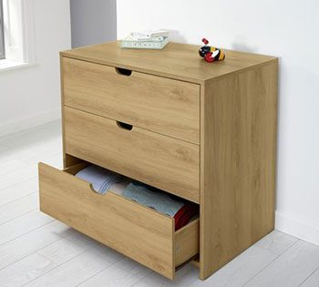 Mamas and papas rocco warm oak chest of draws
