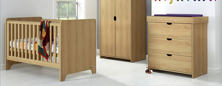 Mamas And Papas Rocco 3 Piece Furniture Set In Warm Oak